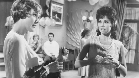 """Moore and Julie Andrews appear in a scene from the 1967 film """"Thoroughly Modern Millie."""""""