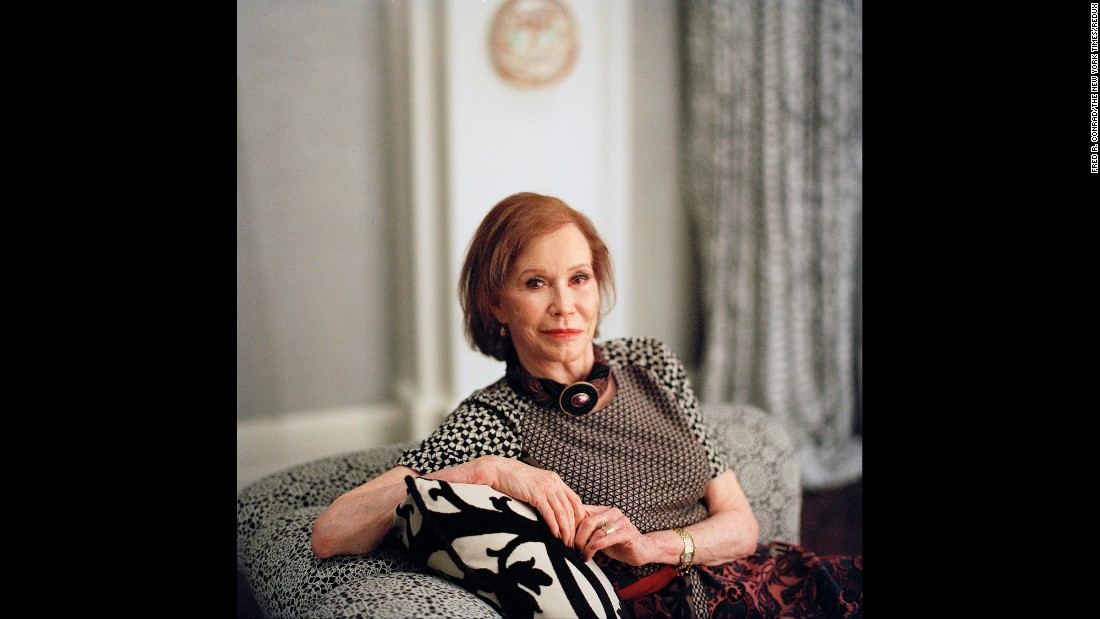Moore poses at her home in Greenwich, Connecticut in 2011.