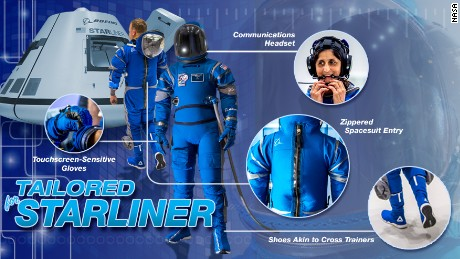 Boeing unveiled its spacesuit design Wednesday.