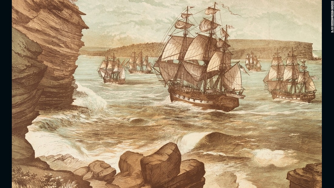 "In 1770 after James Cook circumnavigated and mapped New Zealand, he discovered and claimed the east coast of Australia for England. The First Fleet then arrived at Sydney Cove in Port Jackson on January 26, 1788 which <a href=""http://www.australianstogether.org.au/stories/detail/colonisation"" target=""_blank"">marked the beginning of British colonization.</a>"