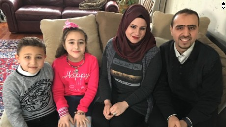Syrian family arrives in US