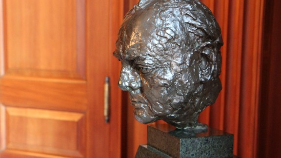 The bust of Winston Churchill, by Sir Jacob Epstein, which the UK is lending to the White House.