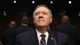 Critics grill secretary of state nominee Pompeo at confirmation hearing