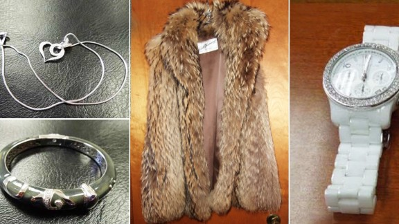 A fur coat, jewelry and a watch: Items that cashier Cynthia Mills is accused of purchasing after she allegedly embezzled $9.5 million from her former employer.