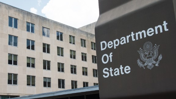 A view of the US Department of State is seen July 31,2014.