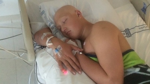 Jack Bryant during his first cancer treatment in the ICU in June 2015.