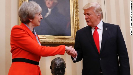 British PM Theresa May invited the new US President on a state visit to the UK later this year.