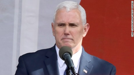 U.S. Vice President Mike Pence addresses a rally on the National Mall before the start of the 43rd annual March for Life January 27, 2017 in Washington, DC. The march is a gathering and protest against the United States Supreme Court's 1973 Roe v. Wade decision legalizing abortion.