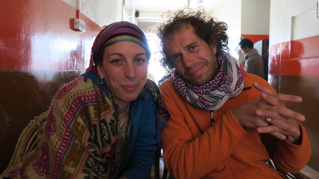 <strong>Cafes: </strong>Enjoying a coffee or tea at one of Rishikesh's many cafes is a good way to meet fellow travelers. These two Italian friends met in London and are spending a few months in the country.