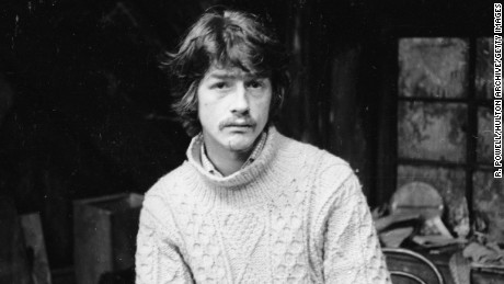 5th February 1966:  English actor John Hurt on set at the Garrick Theatre.  (Photo by R. Powell/Express/Getty Images)