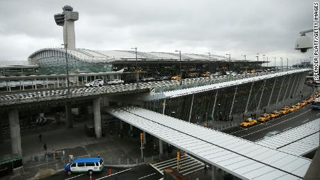 The international arrivals terminal is viewed at New York's John F. Kennedy Airport airport, October 2014 in New York City.