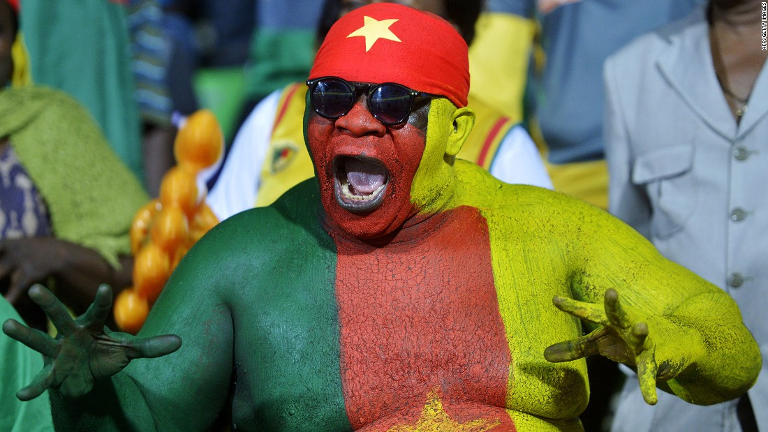 After winning the penalty shootout, Cameroon's supporters had plenty to shout about.