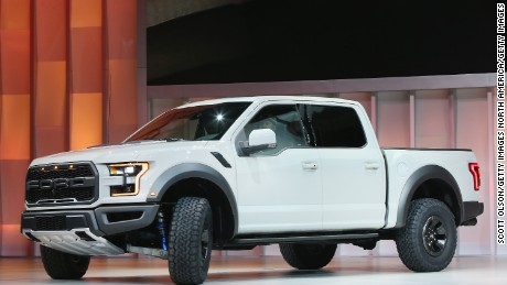 DETROIT, MI - JANUARY 11: Ford introduces the F150 Raptor at the North American International Auto Show on January 11, 2016 in Detroit, Michigan. The show is open to the public from January 16-24.  (Photo by Scott Olson/Getty Images)