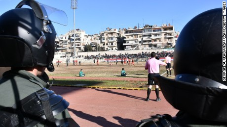 Anger vs. joy: Playing football on 'the ruins of Aleppo'