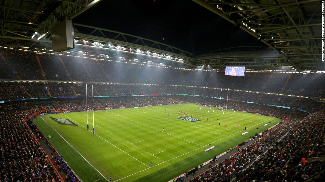 Built for the 1999 Rugby World Cup, the 74,500-capacity ground was formerly known as the Millennium Stadium -- it was renamed last year. Wales wants to close the Cardiff stadium's retractable roof for its two home matches against England and Ireland -- but Six Nations organizers have not assented.