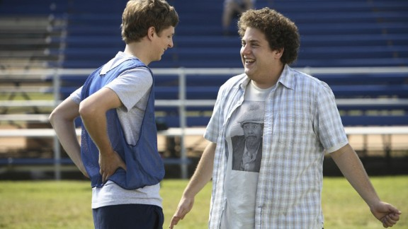 """""""Superbad"""" : Michael Cera and Jonah Hill star as a pair of teens whose party plans go awry. (Netflix)"""