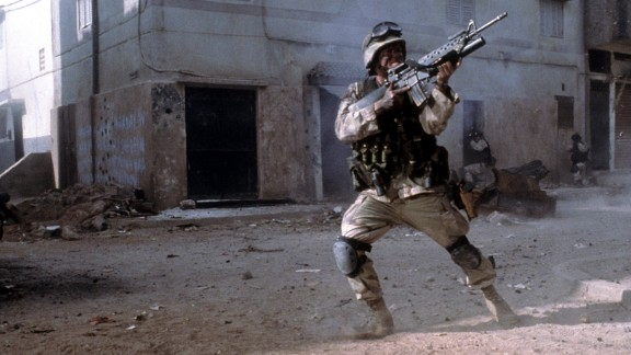 """""""Black Hawk Down"""" : Based on a true story, an elite group of American soldiers are sent to Somalia on a critical mission with dire consequences. (Hulu)"""