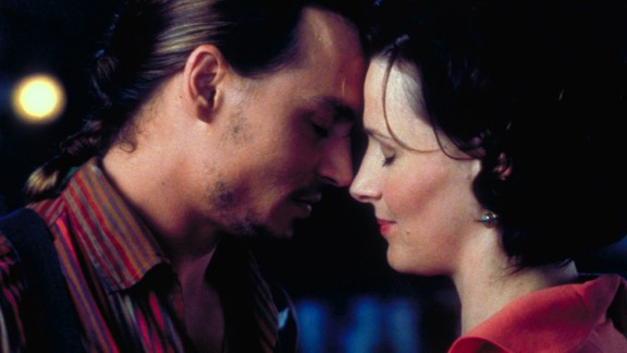 """""""Chocolat"""" : Johnny Depp and Juliette Binoche star in this romantic film based on the popular novel of the same name by Joanne Harris. (Hulu)"""