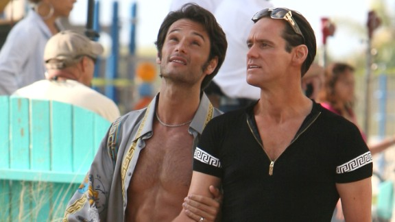 """""""I Love You Phillip Morris"""" :  Rodrigo Santoro and Jim Carrey star in this drama about a con man who finds love in prison. (Hulu)"""