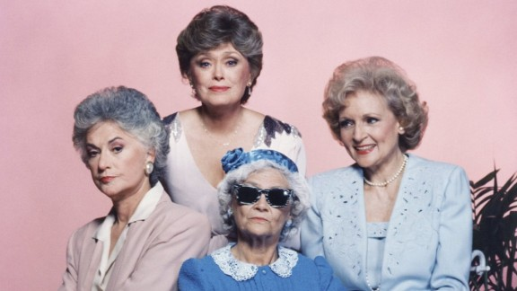 """""""Golden Girls"""" complete series : The antics of a group of senior housemates in Miami made for a hit in the late '80s/early '90s. Estelle Getty, Rue McClanahan , Bea Arthur and Betty White starred. (Hulu)"""