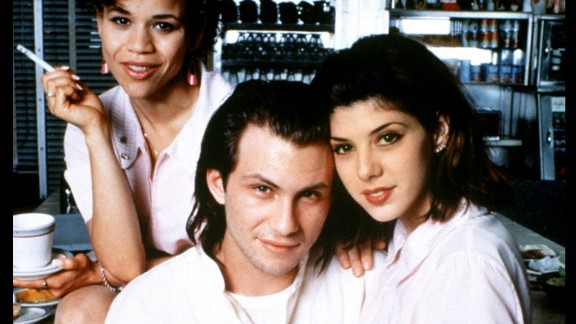"""""""Untamed Heart."""" : Rosie Perez, Christian Slater and Marisa Tomei star in this romantic drama about a shy guy who finds love with a beauty school student. (Hulu)"""