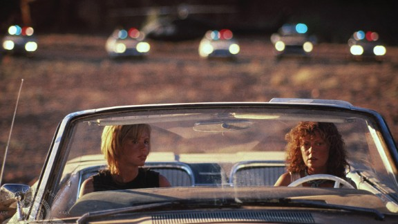 """""""Thelma and Louise"""" : Geena Davis and Susan Sarandon set the standard for women buddy movies with this film about a pair who embark on an epic road trip. (Amazon Prime, Hulu)"""