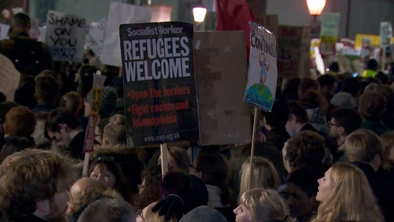 uk trump ban protests