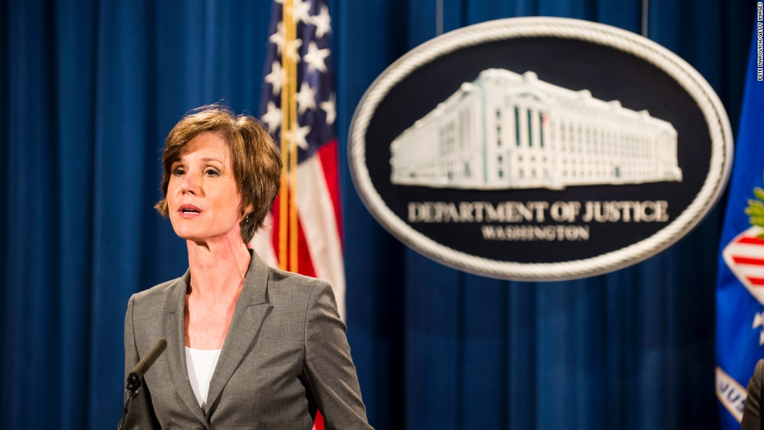 trump fires acting ag sally yates after she declines to defend travel ban cnnpolitics - Attorney General Job Description