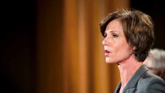 Deputy Attorney General Sally Yates was dismissed by President Donald Trump Monday evening