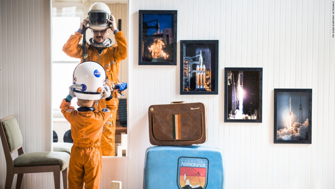 "He says he always knew he wanted to be an astronaut when he grew up. Instead he grew up to be the ""Everyday Astronaut."""