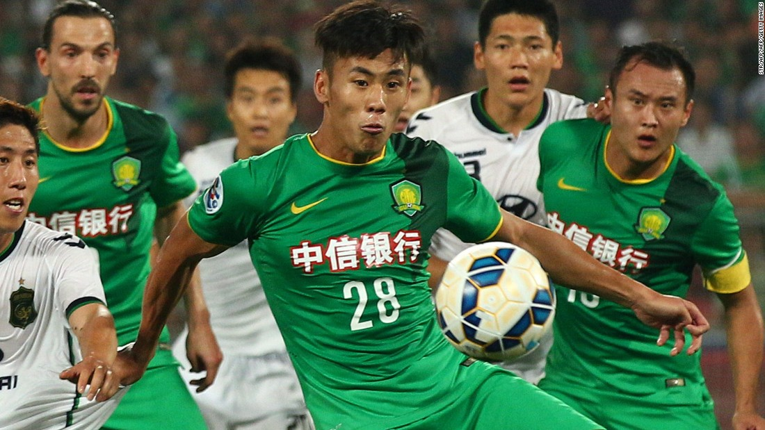 <strong>Chengdong Zhang: Beijing Sinobo Guoan to Hebei China Fortune</strong><br />Transfer fee: $21.7M<br />Age: 27<br />Position: Winger<br />Nationality: China