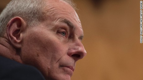 General John Kelly, USMC (Ret.), listens to questions as he testifies at the Senate Homeland Security and Governmental Affairs Committee hearing on his nomination to be Secretary of the Department of Homeland Security, on Capitol Hill on January 10, 2017, in Washington, DC.   / AFP / MOLLY RILEY        (Photo credit should read MOLLY RILEY/AFP/Getty Images)