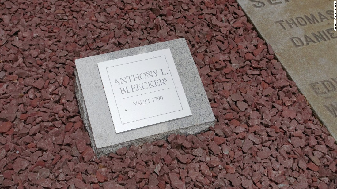 """The Bleecker family is a significant part of Manhattan's history,"" said the Rev. William Lupfer, rector of Trinity Church Wall Street. ""Twenty-six Bleecker ancestors rest in the Colonial-era vault."""
