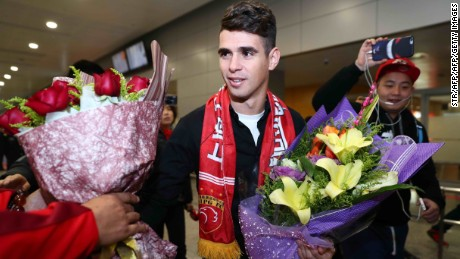 Brazilian football player Oscar moved from Chelsea to Shanghai SIPG in January 2017 for around $63m.
