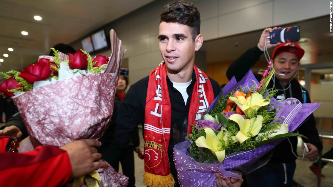 <strong>Oscar: Chelsea to Shanghai SIPG</strong><br />Transfer fee: $63.8M<br />Age: 25<br />Position: Attacking midfielder<br />Nationality: Brazil