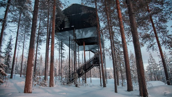 Having a lot of vegetation near your home decreases your odds of dying prematurely by 12%, according to one study. This is the Treehotel in the Swedish Lapland.