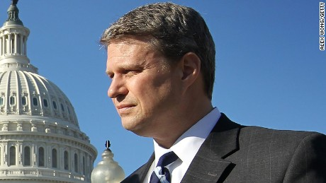 Rep. Bill Huizenga listens during a news conference on February 7, 2012, on Capitol Hill.