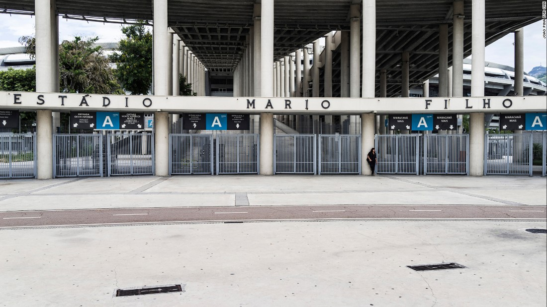 The main entrance of the closed stadium.