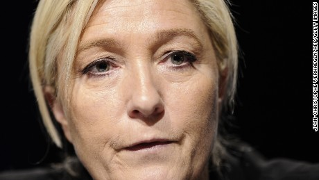 Marine Le Pen declares candidacy in French election, attacks globalization