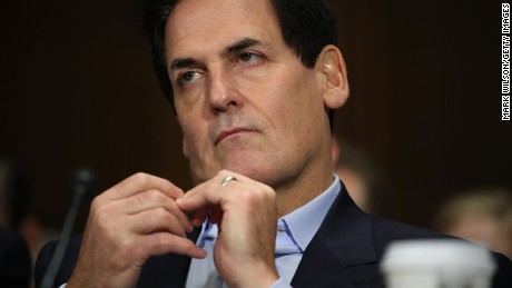 WASHINGTON, DC - DECEMBER 07:  Mark Cuban, chairman of AXS TV and owner of the Dallas Mavericks, listens to testimony during a Senate Judiciary Subcommittee hearing on Capitol Hill, December 7, 2016 in Washington, DC. The subcommittee heard testimony regarding a proposed merger between AT&T and Time Warner.  (Photo by Mark Wilson/Getty Images)