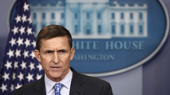 "WASHINGTON, DC - FEBRUARY 01:  National Security Adviser Michael Flynn answers questions in the briefing room of the White House February 1, 2017 in Washington, DC. Flynn said the White House is ""officially putting Iran on notice"" for a recent missile test and support for Houthi rebels in Yemen.  (Photo by Win McNamee/Getty Images)"