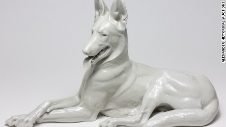 Ralph Rayner also recovered a porcelain Alsatian from Hitler's bunker.