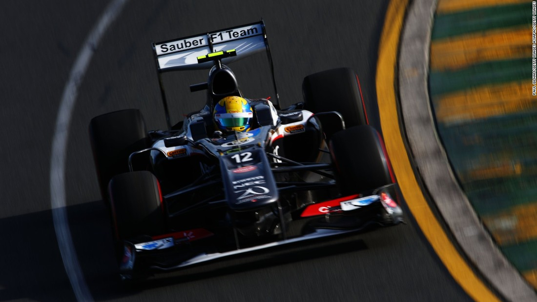 The Mexican won promotion to F1 in 2013, makes his debut for the Swiss Sauber team at the season-opening Australian Grand Prix.