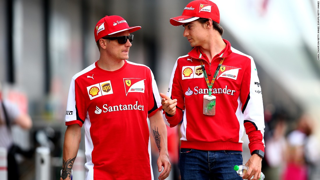 After leaving Sauber, Gutierrez took up a role as reserve driver for Ferrari. Duties involved chatting to the famously monosyllabic Finn Kimi Raikkonen -- the pair seen here chatting at the British Grand Prix in 2015.