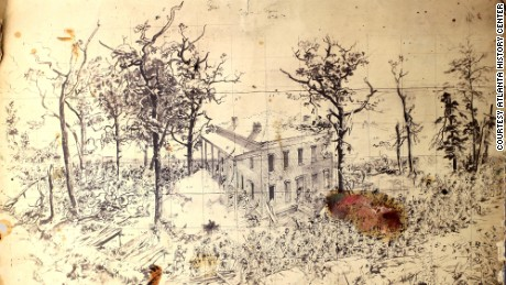 03.cyclorama.Historical 1886 sketch Troup hurt house