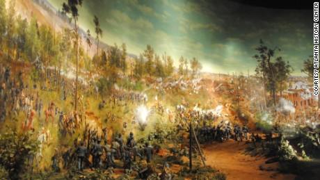 Atlanta Cyclorama Giant Civil War Painting At Its New