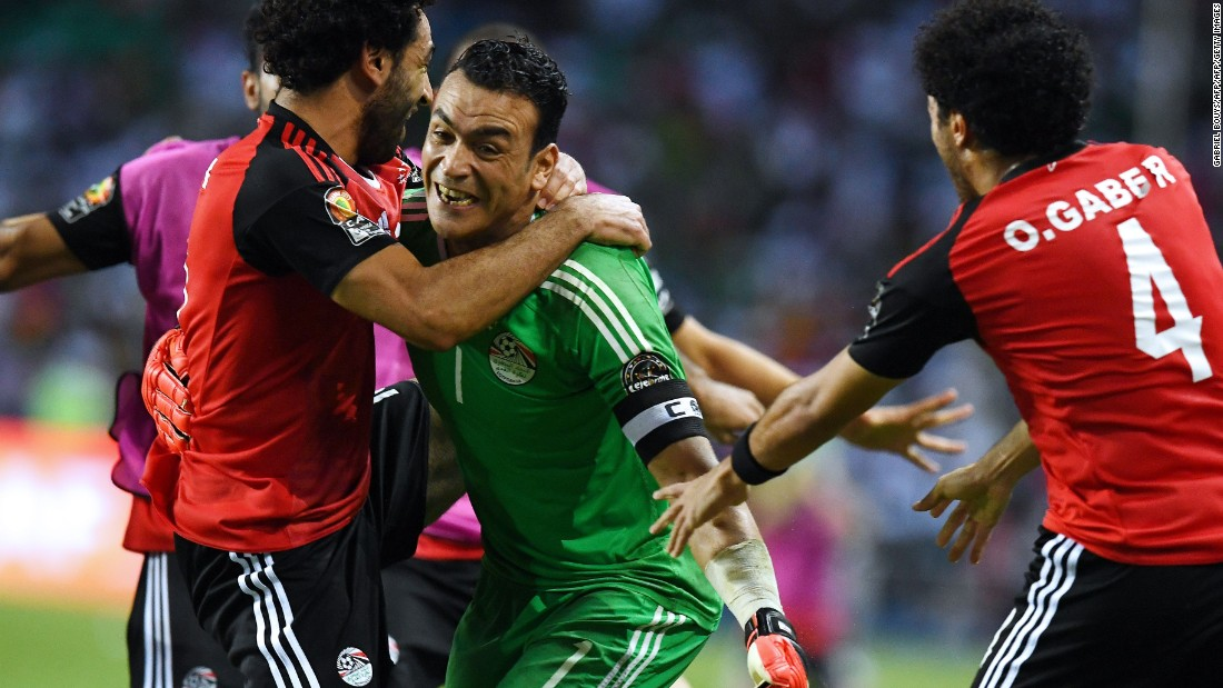 It means El-Hadary now has the chance to win his fifth AFCON title in Sunday's final.