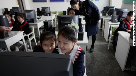 PYONGYANG, NORTH KOREA - APRIL 02:  North Korean children learn to use the computer in a primary school on April 2, 2011 in Pyongyang, North Korea. Pyongyang is the capital city of North Korea and the population is about 2,500,000.  (Photo by Feng Li/Getty Images)