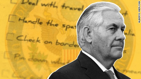 The great big Rex Tillerson to-do list