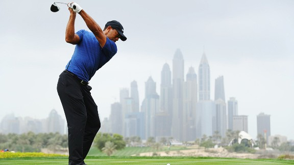 Woods carded a five-over par round of 77 on the opening day of the European Tour